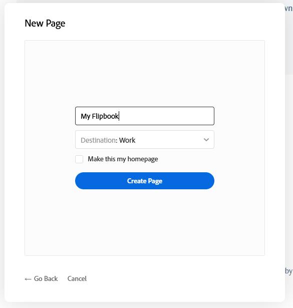 Step 2, type name