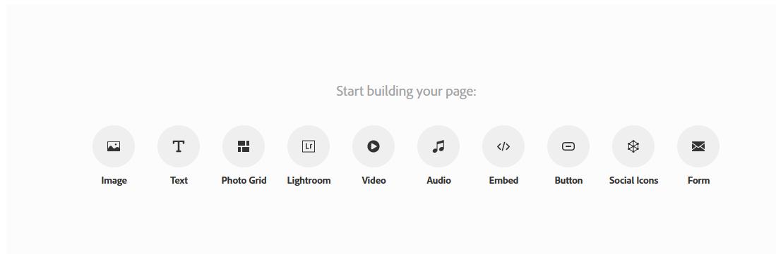 Step 3, choose embed type